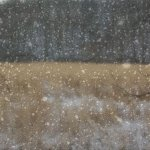 Snow starts to fall on the fields. Created in photshop.